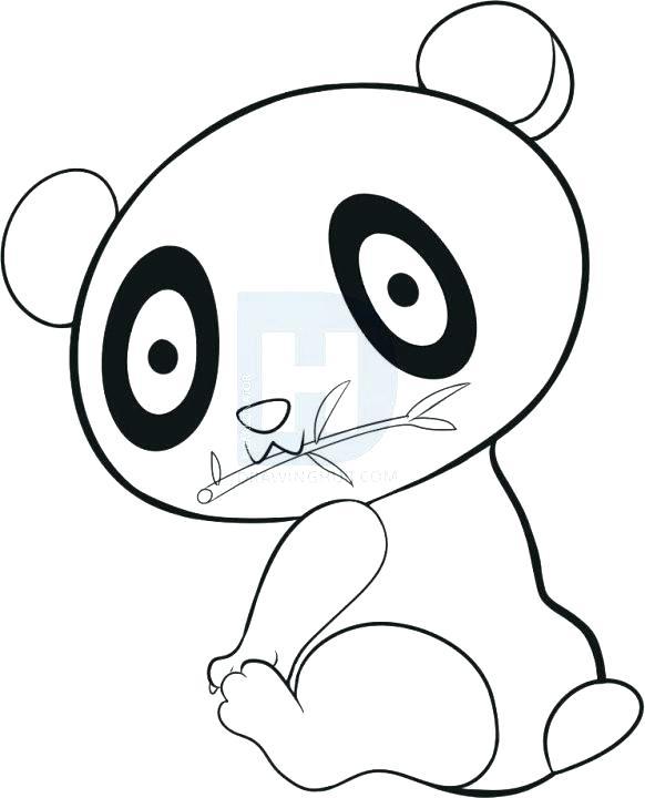 582x720 Easy To Draw Panda Bear How Easy Panda Drawing To Draw A Cute Easy