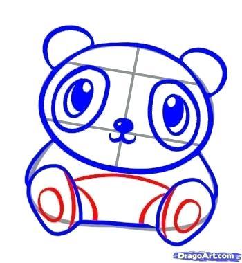 350x380 How To Draw A Cute Panda Bear How To Draw A Cute Panda Step How