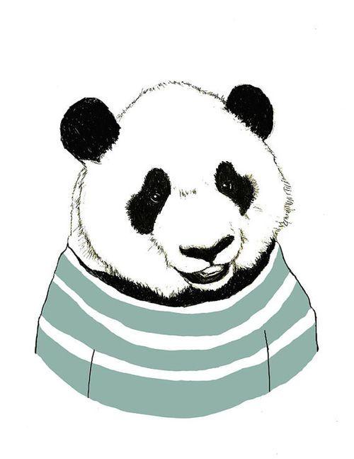 500x647 Panda Bear Drawing Bear Art Panda Bears Love
