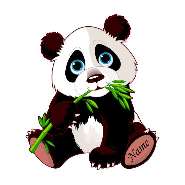 600x600 Personalized Cute Panda Decal