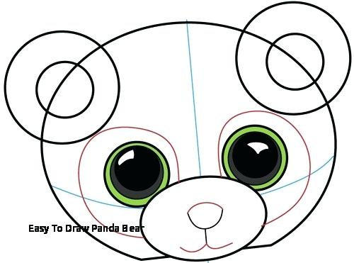 500x371 Easy To Draw Panda Bear