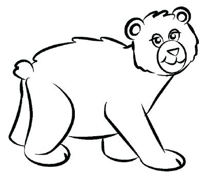 400x349 Bear To Draw How To Draw A Bear In Steps Panda Bear Drawing Cute