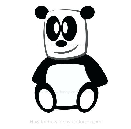 500x492 Cartoon Drawings Of Pandas Draw Cartoon Panda Easy