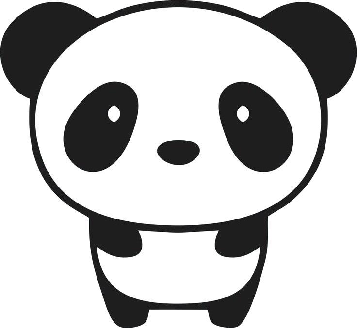 736x677 Cartoon Drawings Of Pandas Panda Drawing Cute Cartoon Panda