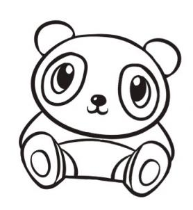 278x302 How To Draw A Cute Panda, Step
