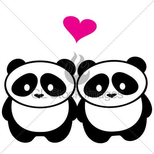 500x500 Panda Bear Love Gl Stock Images