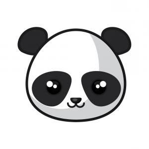 300x300 Photostock Vector Cute Panda In Love And Played Vector