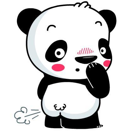 417x417 bears in panda emoji, panda, cute panda