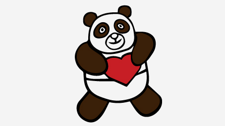 454x255 Top Free Printable Cute Panda Bear Coloring Pages Online