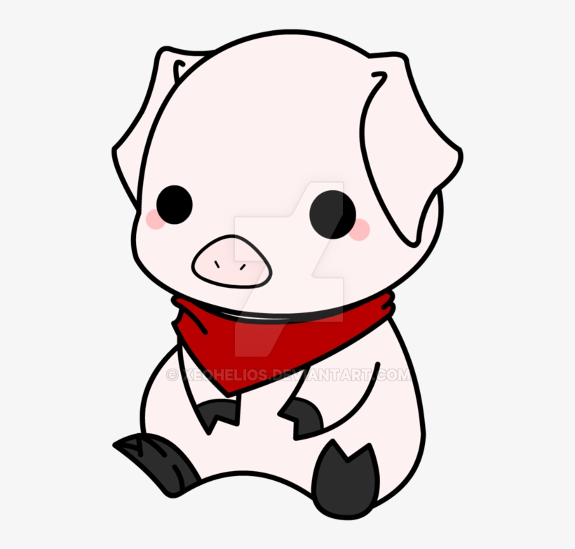 820x782 Drawn Pig Chibi