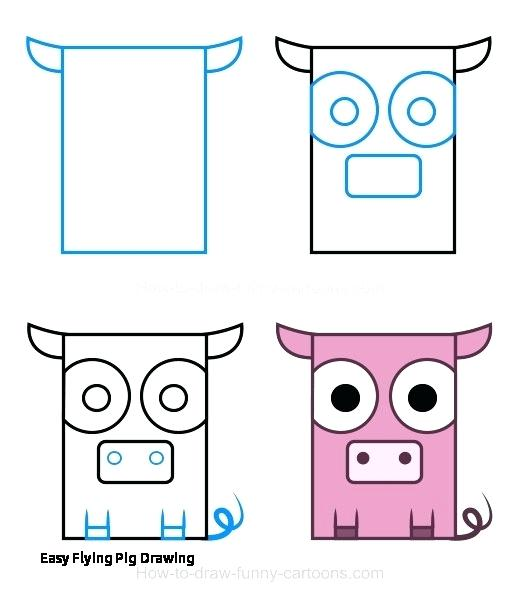 520x607 How To Draw A Cute Pig Step