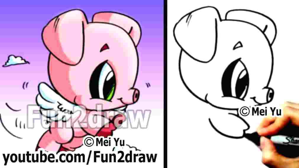 1011x569 How To Draw A Cute Pig Step