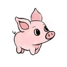 225x224 Image Result For Cute Pig Art Drawings In Pig Art, Cute