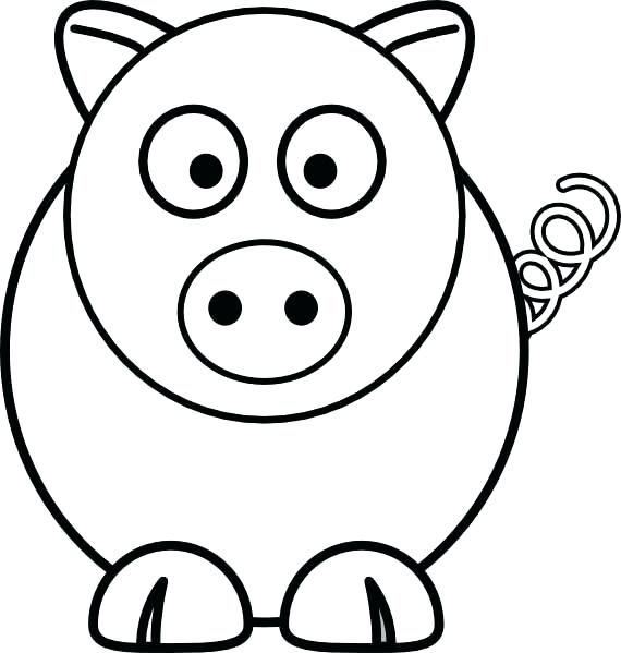 570x599 Simple Pig Drawing Cute Pig Pencil Drawing Google Search Simple