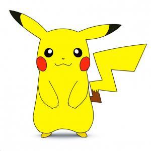 Pikachu simple. Cute drawing free download