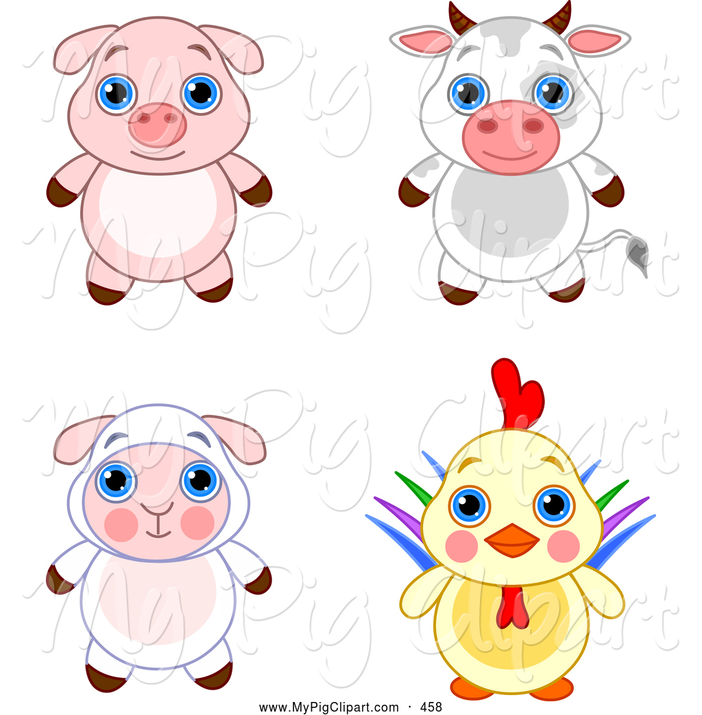 1024x1044 Swine Clipart Of A Cute And Adorable Baby Piglet, Bull, Lamb