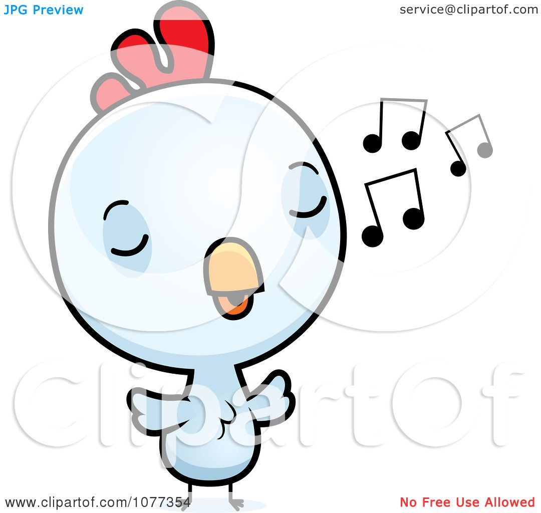 1080x1024 Clipart Cute Baby White Rooster Chick Whistling