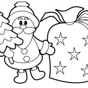 300x300 santa drawing save cute santa line cute santa claus coloring pages