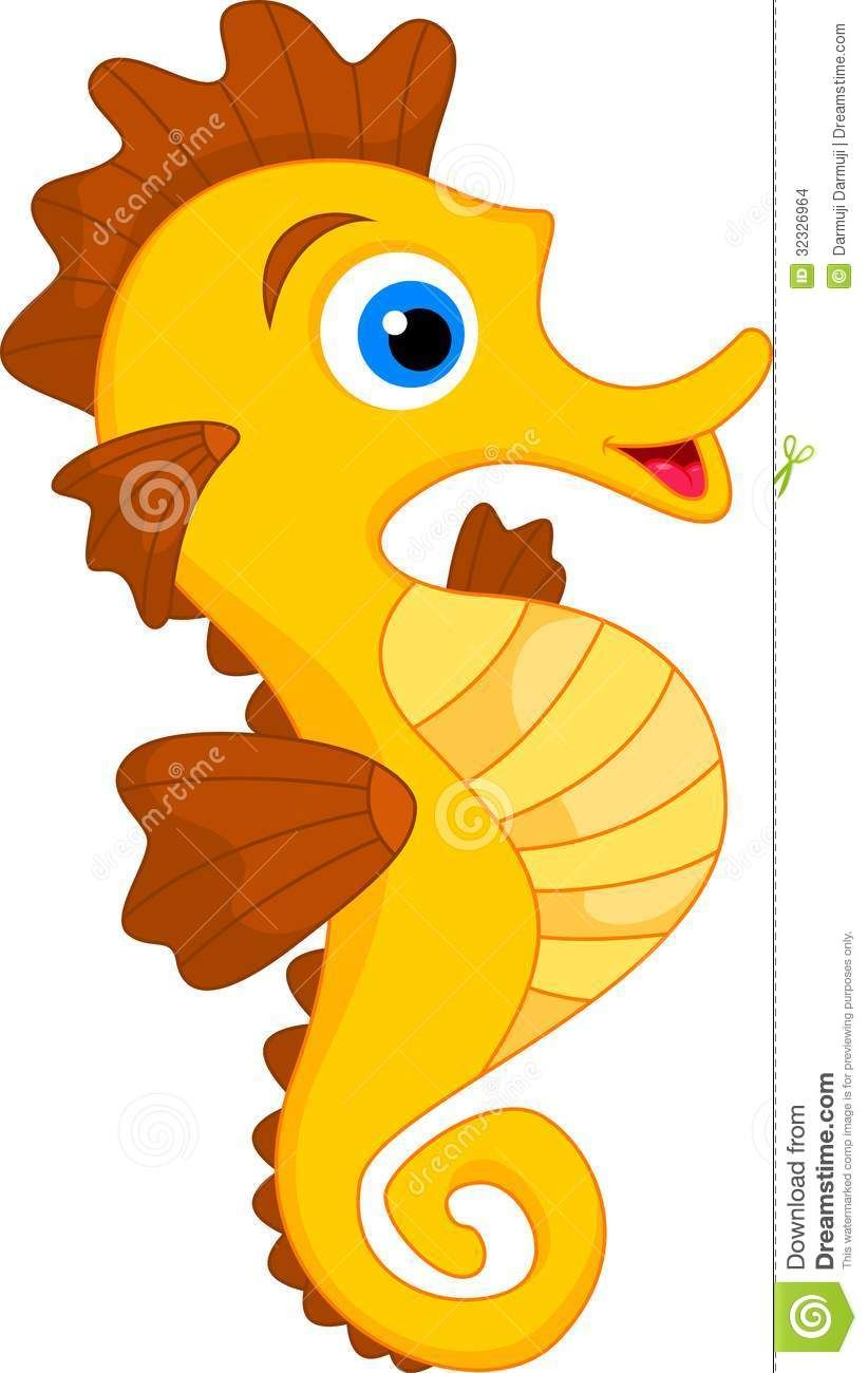 822x1300 Cute Seahorse Cartoon