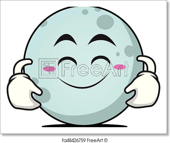 560x470 free art print of cute smile moon face character cute smile moon