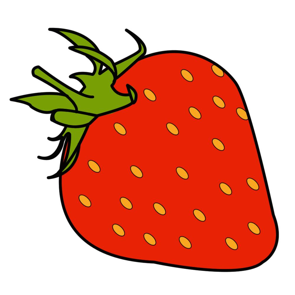 1000x1000 Draw A Strawberry
