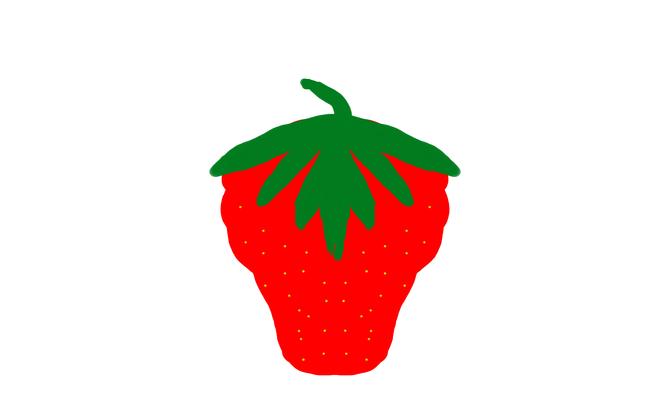 670x419 How To Draw Strawberries Steps