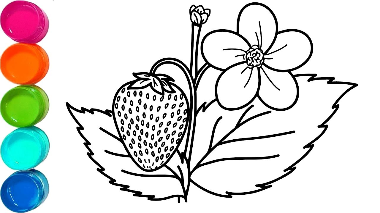 1280x720 How To Draw Strawberry Tree And Flower