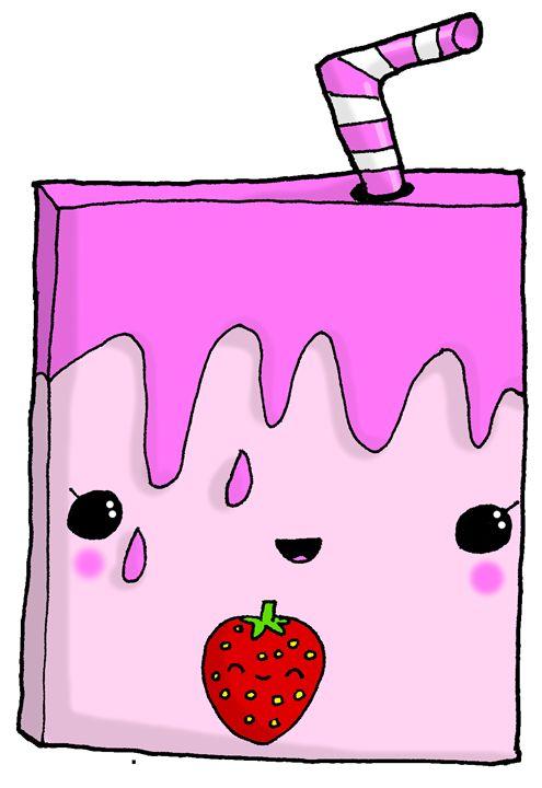 495x720 Kawaii Cute Strawberry Milk Carton