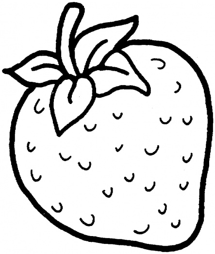 443x525 Collection Of Free Strawberries Clipart Outline Bean Clipart