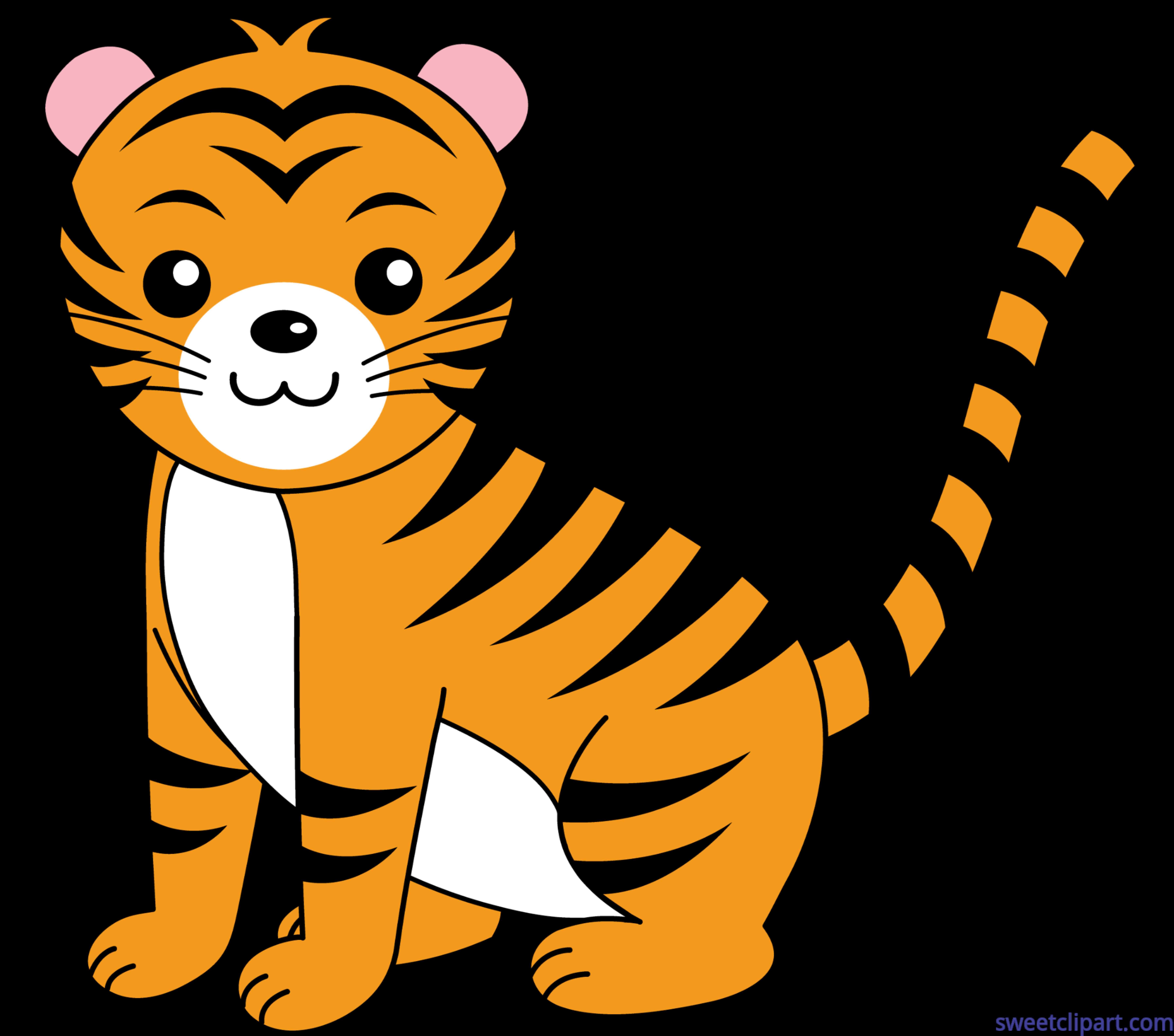 7178x6336 Cute Tiger Clip Art
