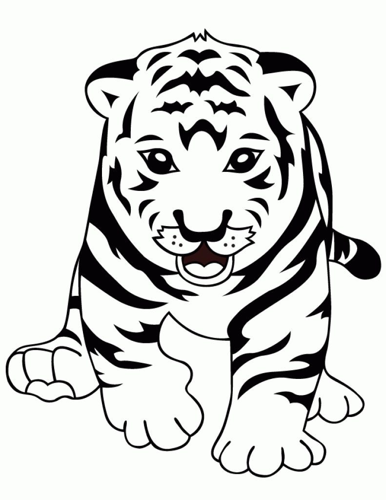 791x1024 Cute Tiger Coloring Pages How To Draw Easy Step