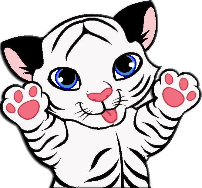666x620 Cute Tiger Drawings