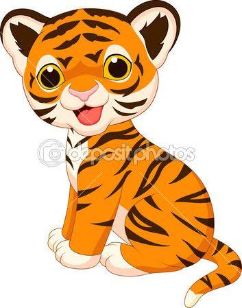 353x449 Cute Baby Tiger Cartoon Stock Illustration
