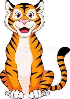 229x320 Cute Tiger Cartoon Sitting Tattoos Cute Tigers, Tiger