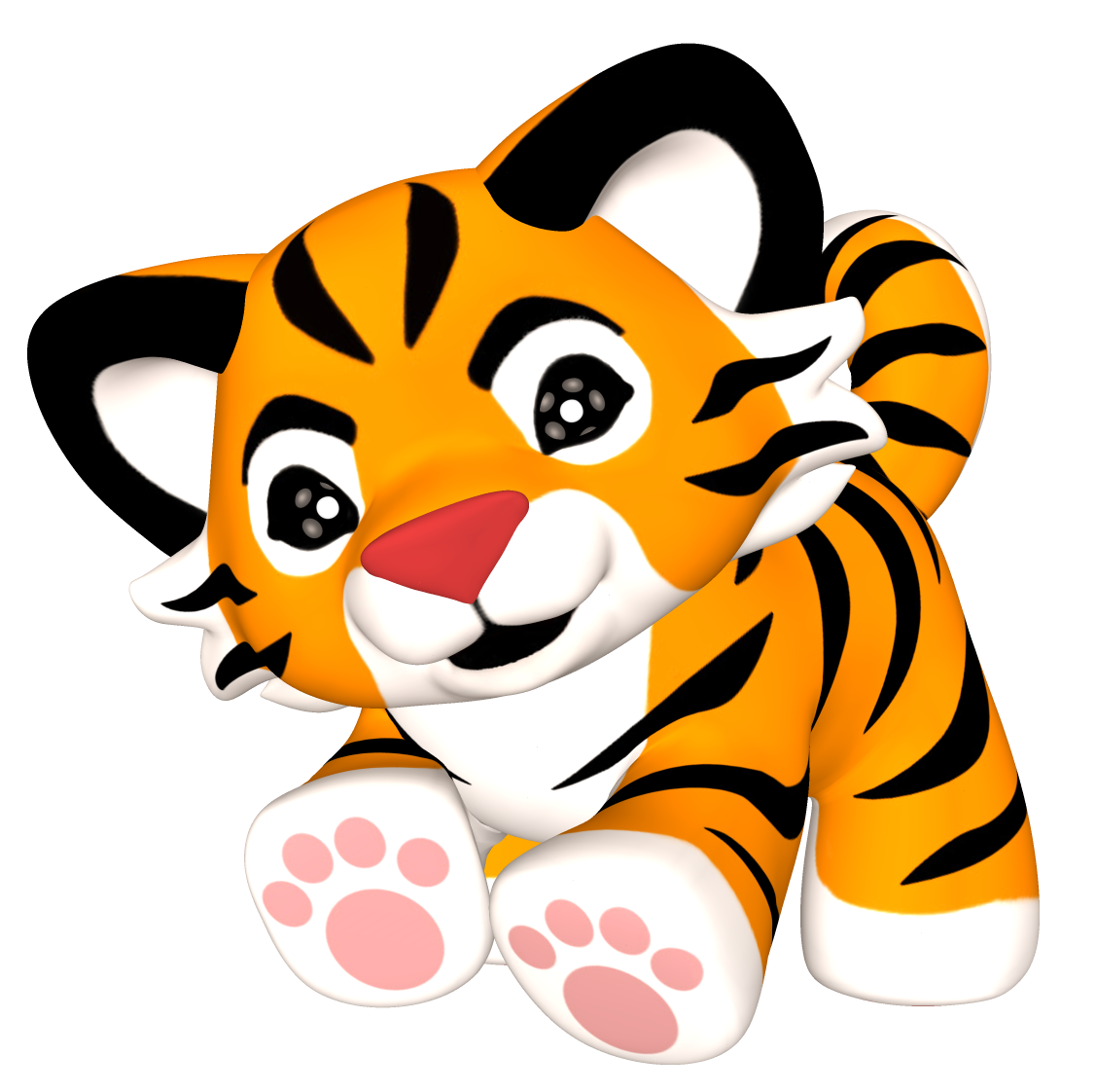 1127x1122 Drawing Tigers Cute Baby Transparent Png Clipart Free Download