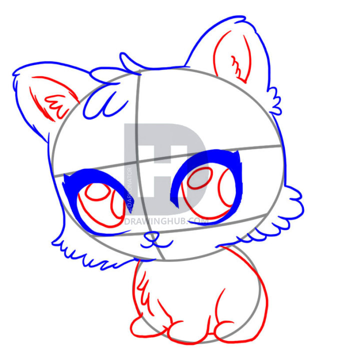 676x720 How To Draw A Cute Tiger, Step