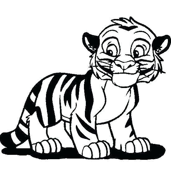 550x550 How To Draw A Cute Tiger Cartoon Tiger Cub Color Pencil Drawing
