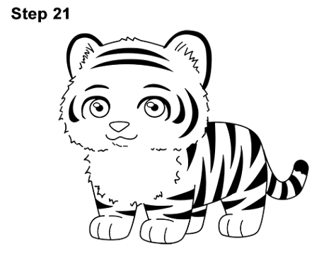 475x366 How To Draw A Cute Tiger Dans How To Draw A Cartoon Tiger Green