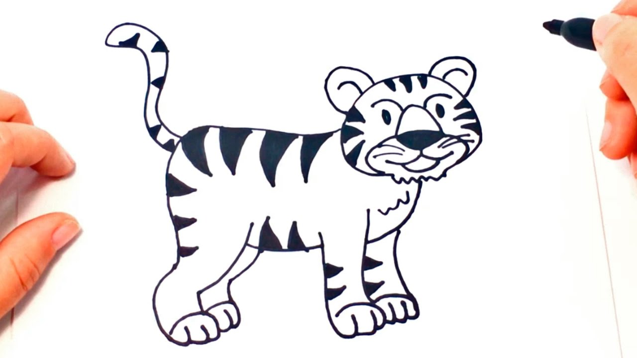 1280x720 How To Draw A Tiger Tiger Easy Draw Tutorial