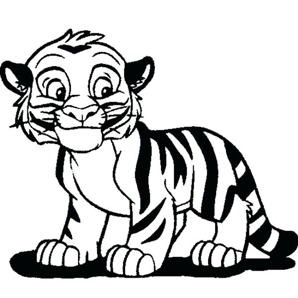 600x600 Tiger Cubs Coloring Pages Snow Tiger Cub Coloring