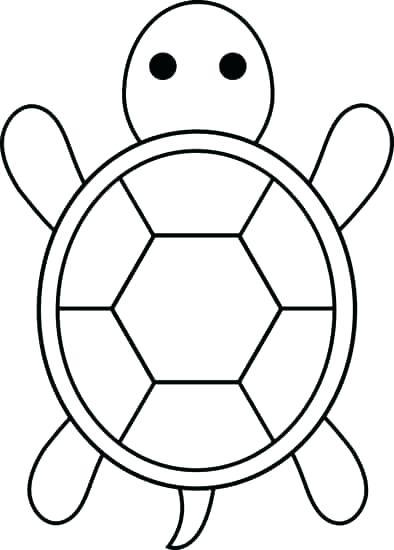 394x550 Cute Turtle Drawing Big Cute Turtle Drawing Pattern Template