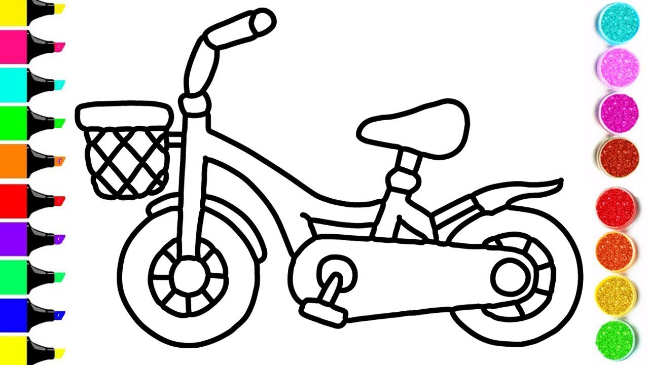 1280x720 cycle drawing and coloring for kids ! cycle coloring videos ! kids