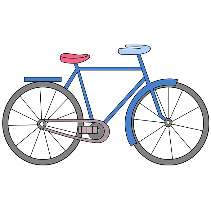 680x678 How To Draw A Bike Really Easy Drawing Tutorial