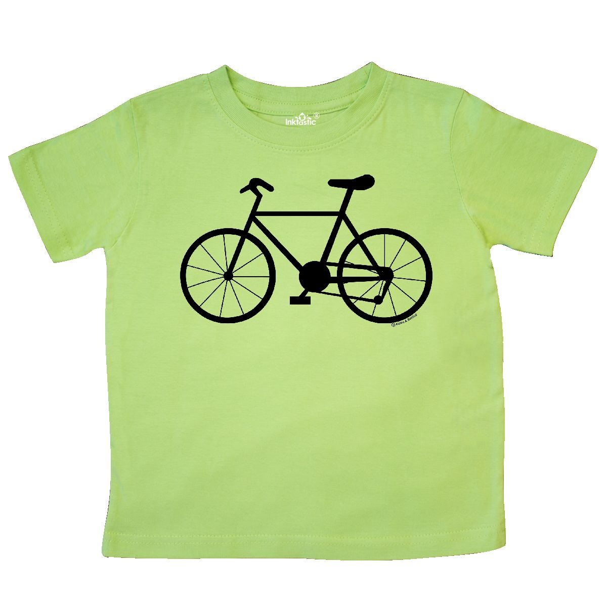 1200x1200 Inktastic Bicycle Silhouette Toddler T Shirt Bike Drawing Cycle