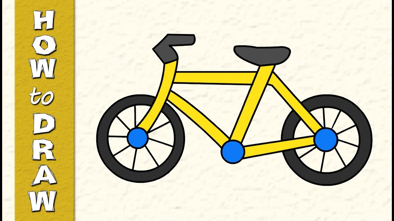 1280x720 How To Draw Cycle Drawing For Kids Hotnsour