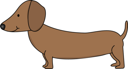 411x223 dachshund clipart image line drawing of a dachshund dog