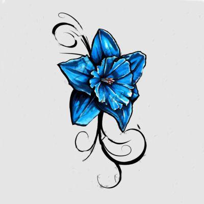 400x400 blue daffodil tattoo ideas daffodil tattoo, flower tattoos