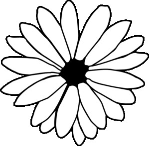 299x294 Daisy Outline Clipart For Daisy Outline