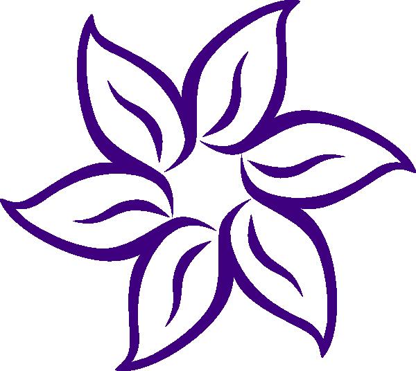 600x536 Flower Outline Clipart Cartoon Flowers Clip Art Purple Vector