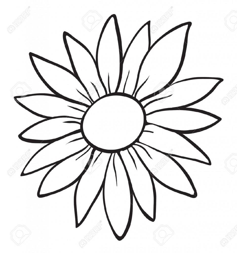960x1024 Flower Outline Template Daisy Easter Gado Gado